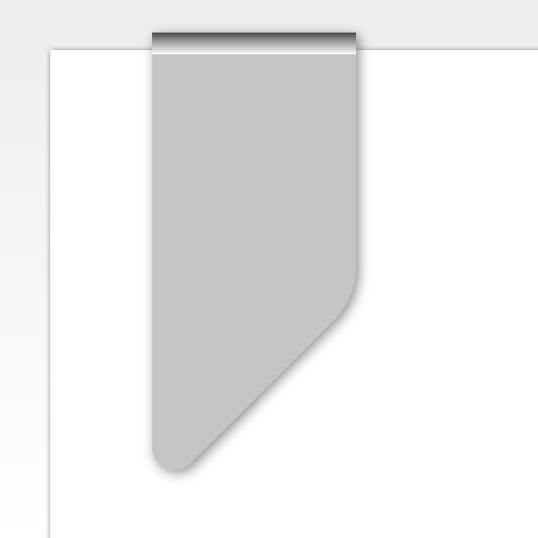 onbedrukte paperclip